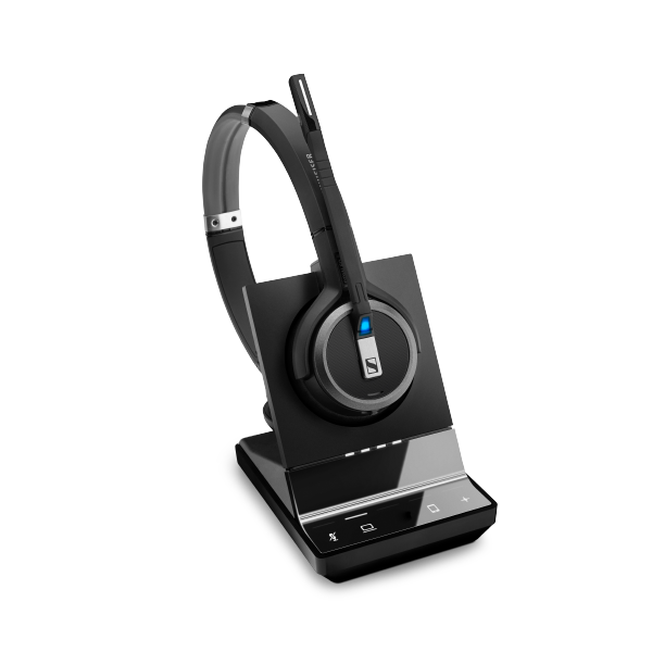 Sennheiser, SDW, 5034, DECT, Wireless, Office, headset, with, base, station, for, PC, and, mobile, with, BTD, 800, dongle, monaural, hea,