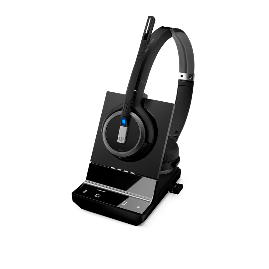Sennheiser, SDW, 5064, DECT, Wireless, Office, headset, with, base, station, for, PC, and, mobile, with, BTD, 800, dongle, binaural, hea,