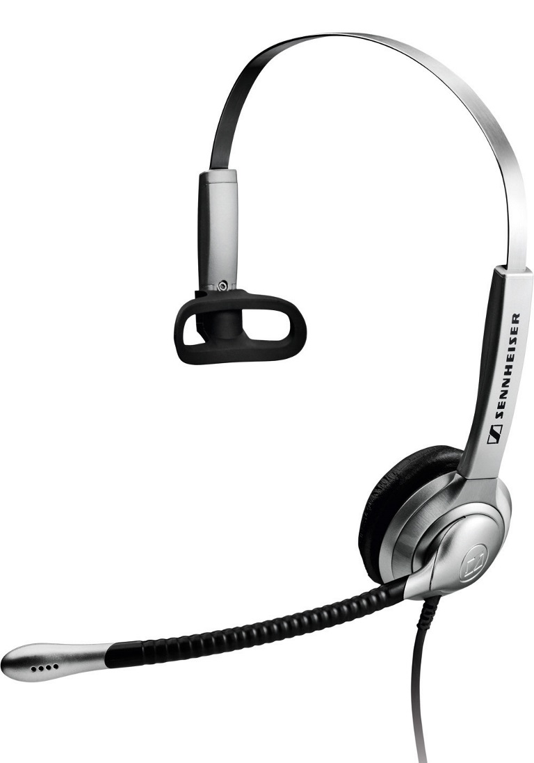 Sennheiser, Over, the, head, Narrow, Band, monaural, headset, ultra, noise, cancelling, mic, Activegard,