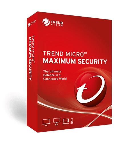 Trend, Micro, Maximum, Security, (1, Devices), 24mth, Retail, Mini, Box,