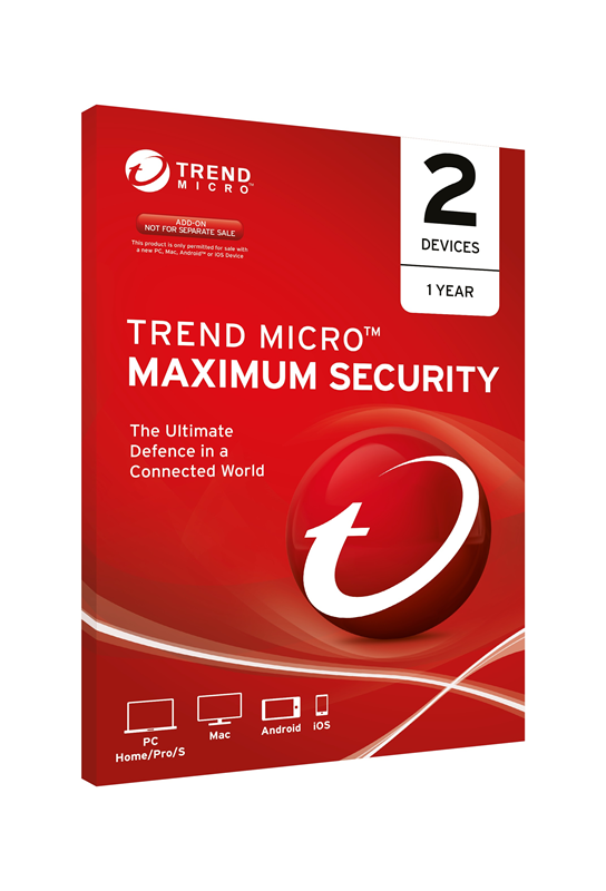 Trend, Micro, Maximum, Security, 2, Users/Devices, 1, Year, OEM,