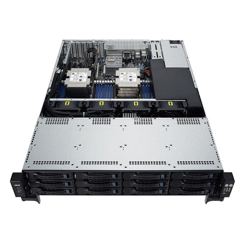 ASUS, RS520-E9-RS12-E, 2U, Barebone, Rackmont, Server, Dual, LGA3647, 16, x, DIMM, 12x, 2.5, HS, Bays, 2, x, Rear, 2.5, 800W, RPSU,