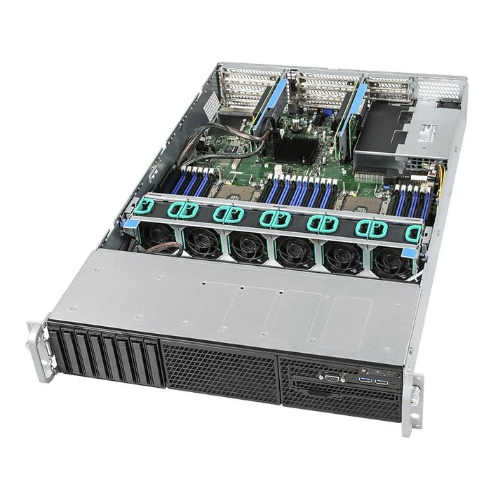 Intel, 2U, Rackmount, Server, Intel, Xeon, Silver, 4110, (1/2), 8, x, 2.5, HDD, HS, 32GB, DDR4, ECC, (2/24), VROC, NVME, 2x, 10GbE,