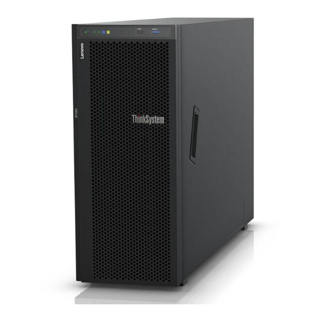 LENOVO, ThinkSystem, ST550, 4U, Tower, Server, 1x, Intel, Xeon, Silver, 4210, 1x16GB, 2Rx8, 8, x, 3.5, HS, Bays, HW, RAID, 530-8i, 1x75,