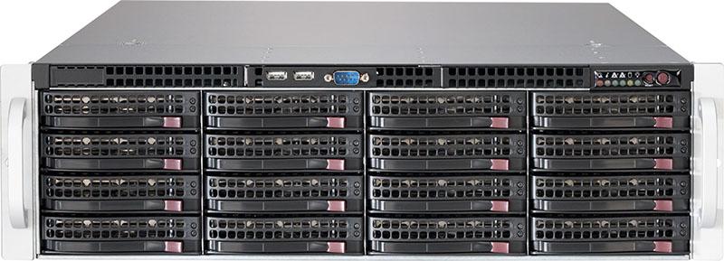 Supermicro, 3U, 1+1, Rackmount, 16x, 3.5, HDD, SAS3, Backplane, with, Expander, 1000W, Redundant, Titanium, PSU,