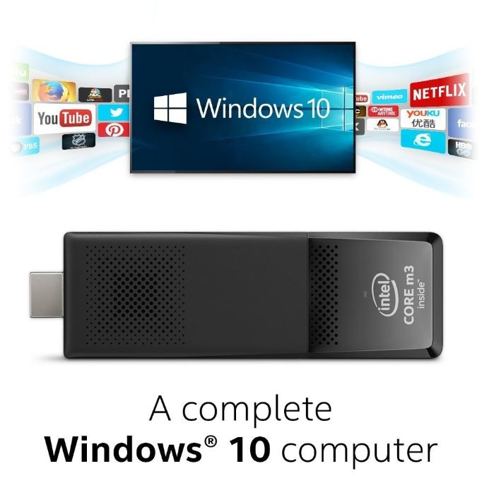 Intel, Compute, Stick, Win10, m3-6Y30,