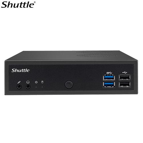 Shuttle, DH02U3, XPC, Slim, 1L, Barebone, -, H02U3, i3-7100U, 2x, DDR4, 1x, 2.5, 4K, Display, 4x, HDMI, 1x, RS232, 2xUSB3.0,