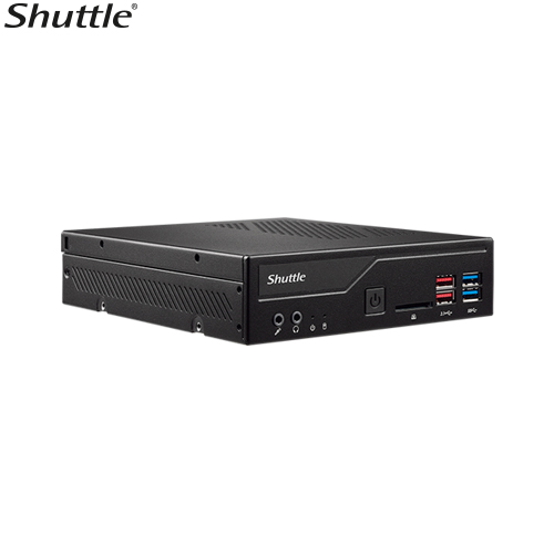 Shuttle, DH370, XPC, Slim, 1.3L, Barebone, -, 8th, gen, CPU, 2x, DDR4, sodimm, 1x, M.2, 1x, 2.5, 4k, video,