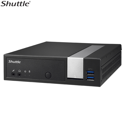 Shuttle, DX30, Slim, Mini, PC, 1.3L, -, Fanless, 4K, 3xDisplays, Celeron, J3355, 2xDDR3L, SODIMM, 2.5, M.2, HDMI, DP, 2x, RS232, GbE, LAN, Wo,