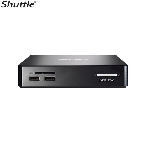 Shuttle, NS02A, XPC, Nano, 0.57L, NUC, -, RK3368, Octa, Core, 2GB, RAM, 16GB, eMMC, 1x, 2.5, Bay, 1x, 10/100, LAN, WL-N, +, BT4.0, VESA,