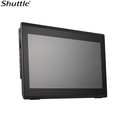 Shuttle, P51U, XPC, AIO, Fanless, Barebone, -, 15.6, Multi, Touch, IP54, Celeron, 3865U, DDR4, 2.5, HDD, HDMI, 1, Giga, LAN, WiFi,