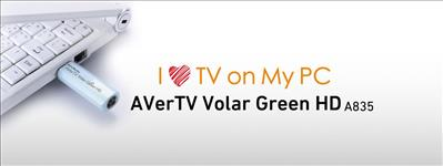 AVerMedia, A835, Volar, Green, HD, USB, Digital, TV, Tuner, with, Remote., H.264, /, MPEG-2, HDTV, up, to, 1080i., Watch, TV, on, the, go!, 12,