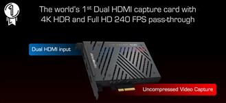 AVerMedia, GC570D, 4k, HDR, and, 1080p240, pass-thru., Record, @, 1080p60, HDR, with, Dual-HDMI, input, +, 1, HDMI, output.,