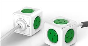 ALLOCACOC, POWERCUBE, Extended, 5, Outlets, 3M, –, Green, (LS),