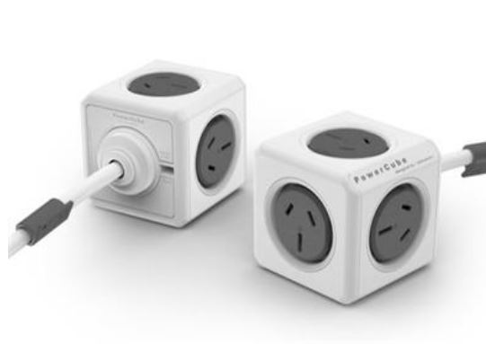 ALLOCACOC, POWERCUBE, Extended, 5, Outlets, 3M, –, Grey, (LS),