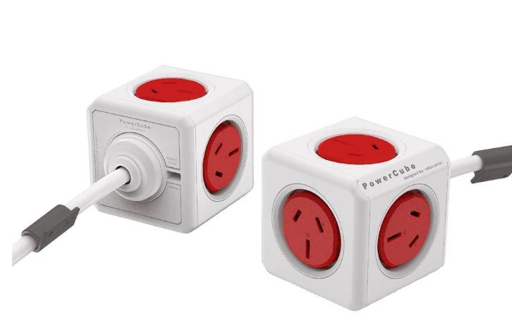 ALLOCACOC, POWERCUBE, Extended, 5, Outlets, 3M, -, Red, (3979), (LS),