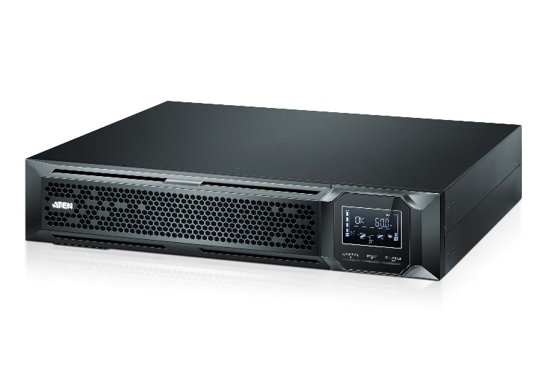 Aten, 2000VA/2000W, Professional, Online, UPS, with, USB/DB9, connection, 8, IEC, C13, outlets, optional, SNMP, support, EPO, and, RJ,