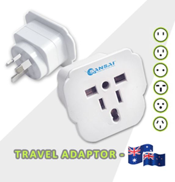 Sansai, Travel, Adapter, for, 240V, Equipment, from, Britain/, USA/, Europe/, Japan/, China/, Hongkong/, Singapore/, Korea,