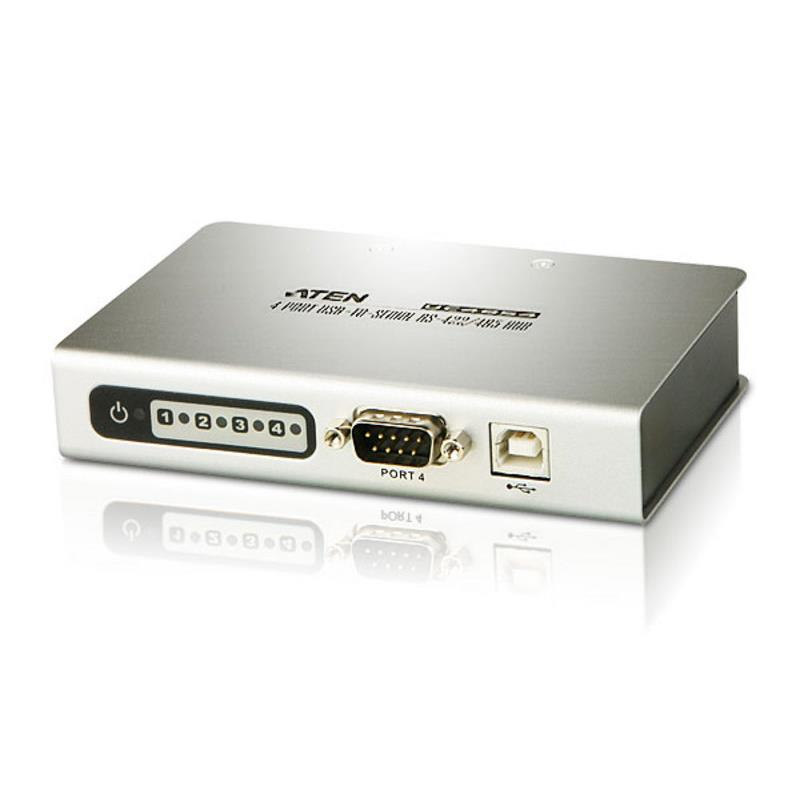 Aten, USB, to, 4, Port, Serial, RS-422/485, Hub,