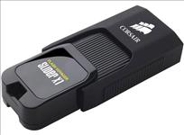 Corsair, Flash, Voyager, Slider, X1, 128GB, USB, 3.0, Flash, Drive, -, Capless, Design, Read, 130MBs, Plug, and, Play,