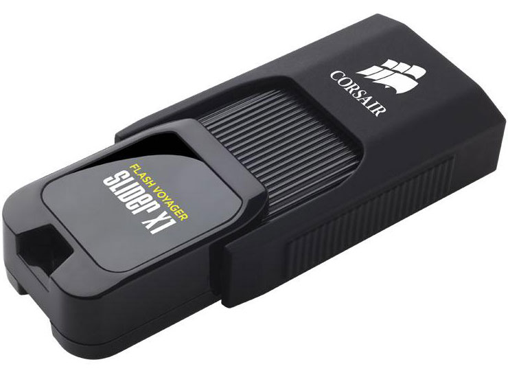 Corsair, Flash, Voyager, Slider, X1, 64GB, USB, 3.0, Flash, Drive, -, Capless, Design, Read, 130MBs, Plug, and, Play,