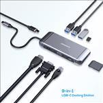 mbeat, Elite, X9, 9-in-1, Multifunction, USB-C, Docking, Station, HDMI, VGA, USB-C, PD, USB, 3.0, x, 3,