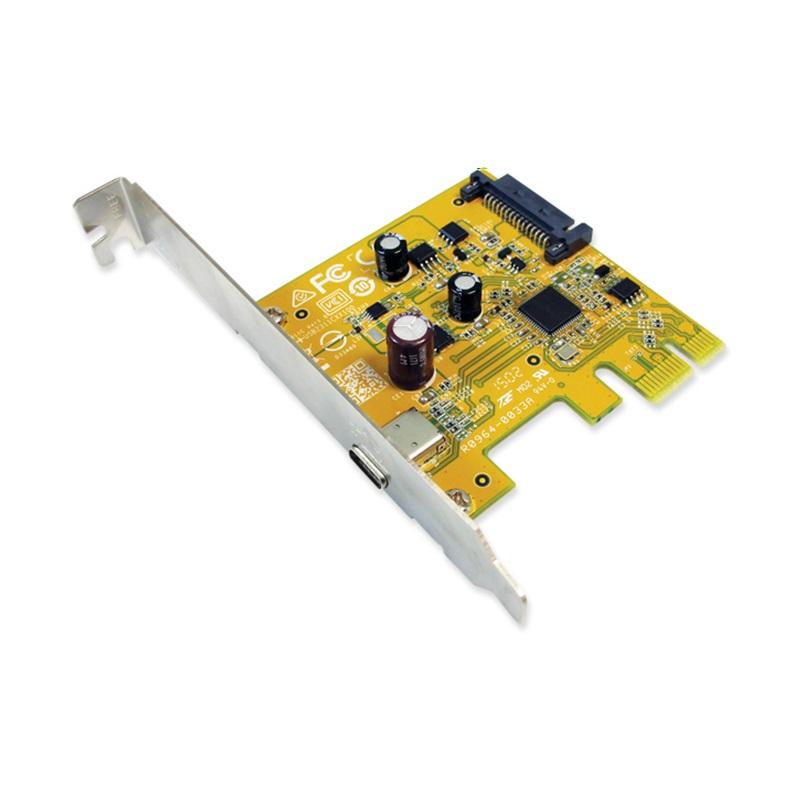 Sunix, USB2311C, USB3.1, Enhanced, SuperSpeed, Single, port, PCI, Express, Host, Card, with, USB-C,