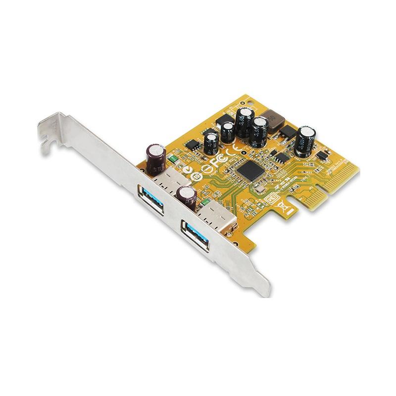 Sunix, USB2312, Sunix, USB3.1, Enhanced, SuperSpeed, Dual, ports, PCI, Express, Host, Card, with, USB-A,