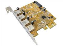 Sunix, USB4300NS, PCIE, 4-Port, USB, 3.0, Card, (SATA, power, connector),
