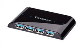 "Targus, SuperSpeedâ""¢, 4, Port, USB3.0, Hub, with, Transfer, Rate, of, 615MB/Sec,"