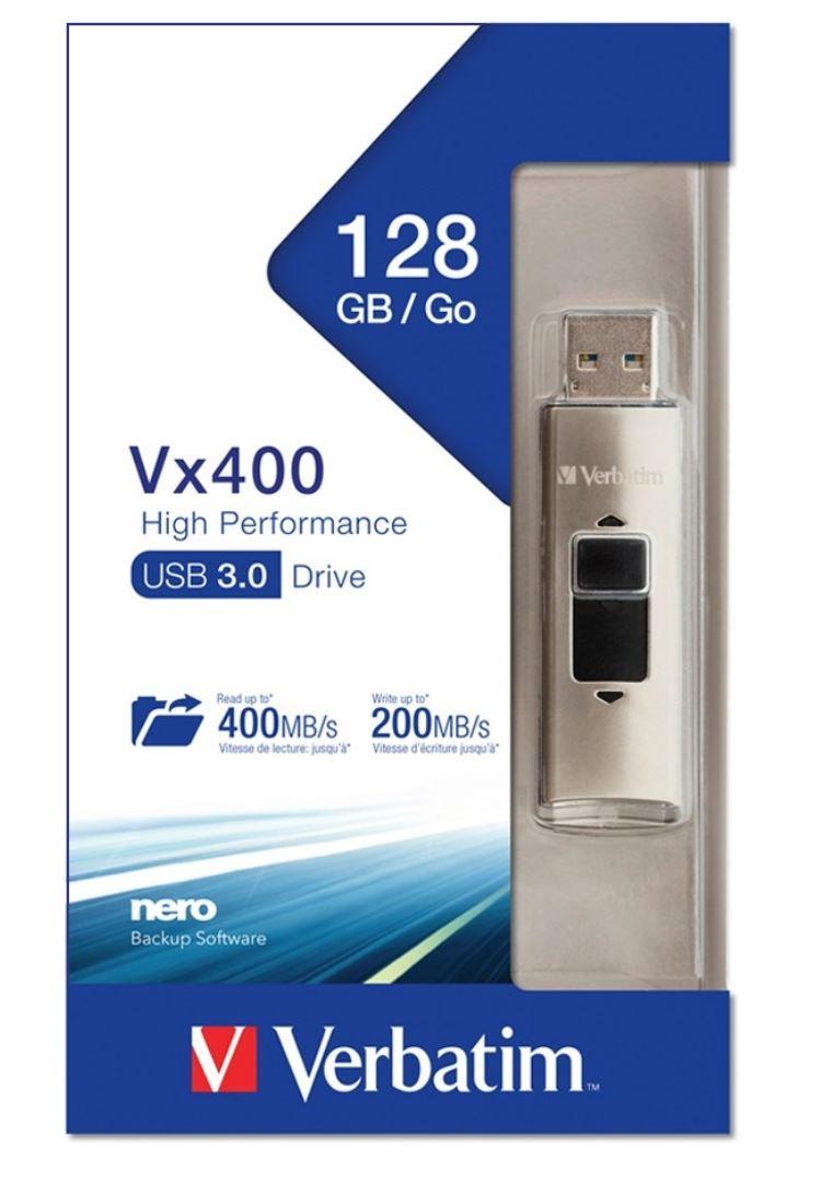 Verbatim, Store, n, Go, Vx400, Solid, State, USB, Drive-128GB,