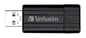 Verbatim, Store, n, Go, Pinstripe, USB, Drive, 8GB, (Black), (LS),