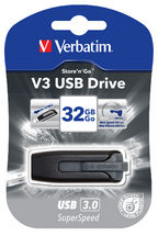 Verbatim, 32GB, V3, USB3.0, Grey, Store, n, Go, V3;, Retractable,