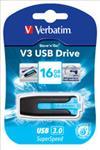 Verbatim, 16GB, V3, USB3.0, Blue, Store, n, Go, V3;, Rectractable,