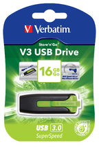 Verbatim, 16GB, V3, USB3.0, Green, Store, n, Go, V3;, Rectractable,