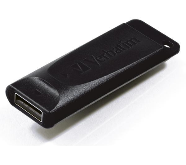 Verbatim, USB2.0, Store, n, Go, Slider, USB, Drive, 8GB, Black, (LS),