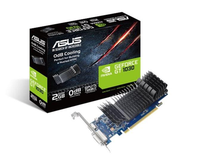 Asus, nVidia, GT1030-SL-2G-BRK, PCIe, Card, GDDR5, 8K, 7680x4320, 1xHDMI, 1xDVI, 1455/1354, MHz,