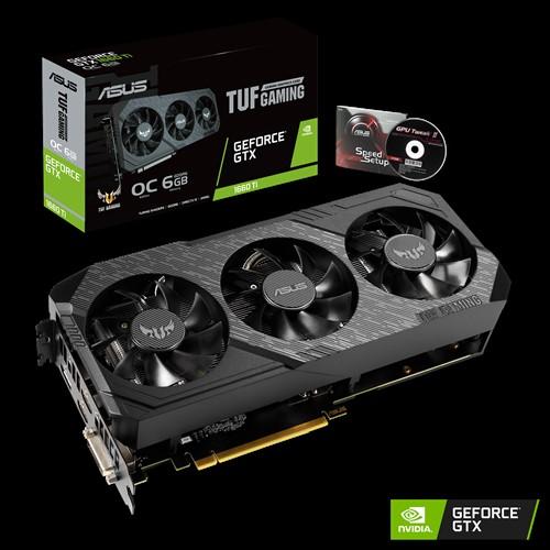 ASUS, nVidia, TUF, 3, GTX1660TI-O6G-GAMING, GeForce, GTX, 1660, Ti, OC, Edition, 6GB, GDDR6, -, 3, Fan,