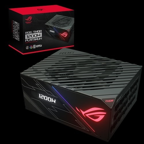 ASUS, ROG-THOR-1200P, 1200w, PLATINUM, Power, Supply, With, Aura, Sync, /, OLED,