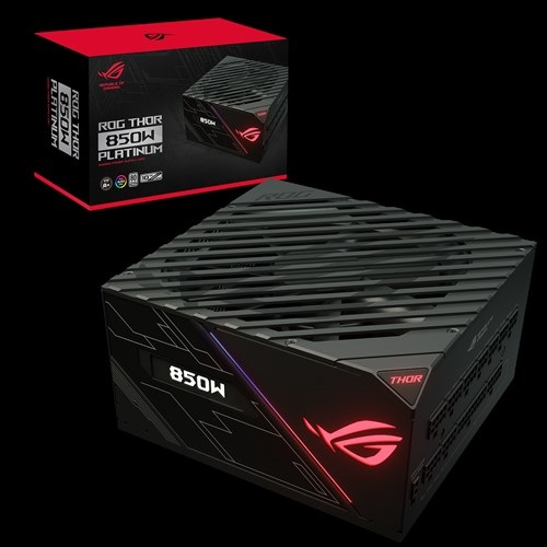 ASUS, ROG-THOR-850P, 850w, PLATINUM, Power, Supply, With, Aura, Sync, /, OLED,