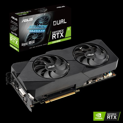 ASUS, nVidia, Super, Dual, GeForce®, RTX, 2060S, EVO, Advanced, Edition, 8GB, GDDR, 2, Powerful, Axial-Tech, Fans, AAA, Gaming, Perfor,