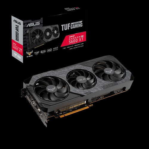 ASUS, AMD, Radeon, TUF, 3-RX5600XT-T6G-EVO-GAMING, GDDR6, PCIe, TOP, EDITION, 3xDP, 1xHDMI, 2.7, Slot, 1770, Boost, 3, Fans,