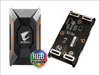 Gigabyte, GC-A2WAYSLIL, RGB, AORUS, SLI, HB, bridge, RGB, 4K+, 8cm, 2, slot, spacing, for, nVidia, GTX, 10, series, graphic, cards, Dual, Li,