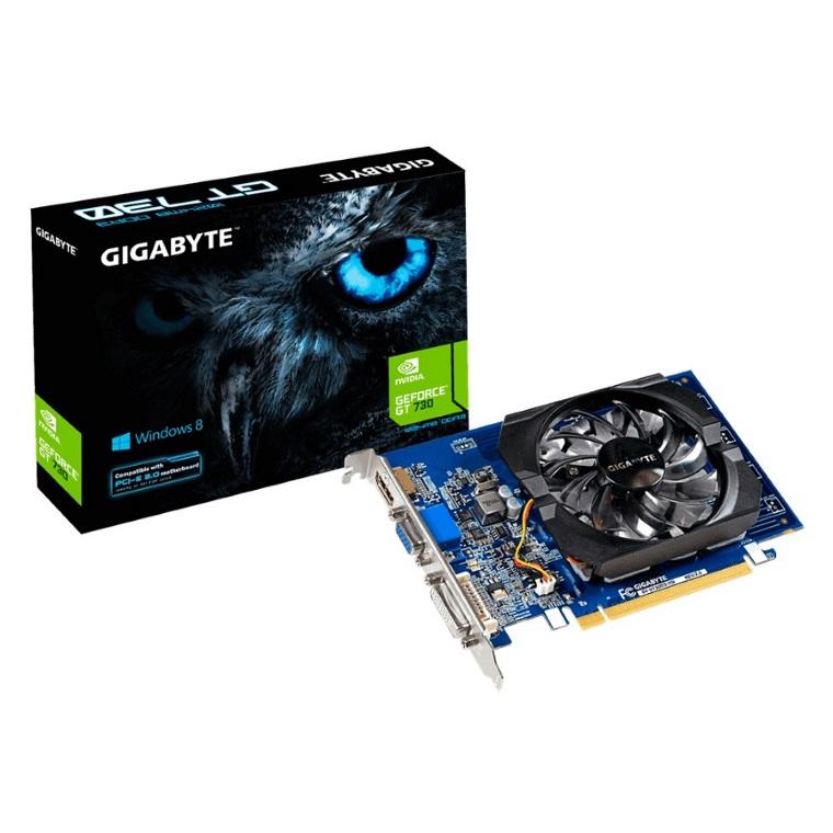 Gigabyte, nVidia, GeForce, GT, 730, 2GB, DDR3, Ultra, Durable, PCIe, Video, Card, 4K, HDMI, DVI, VGA, 3xDisplays, Fan, 902Mhz, ~VCG-N730D5-,