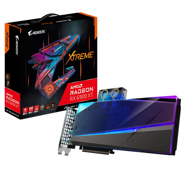 Gigabyte, AMD, Radeon, RX, 6900, XT, AORUS, XTREME, WATERFORCE, WB, 16G, Video, Card, 2525, MHz, Boost, Clock, 2375, MHz, Game, Clock, 2x,