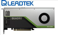 Leadtek, nVidia, Quadro, RTX4000, PCIe, Workstation, Card, 8GB, GDDR6, 3xDP1.4, 5K, 4x4096x2160@120Hz, 1xVirtualLink, 256-Bit, 416GB/s,