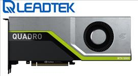 Leadtek, nVidia, Quadro, RTX5000, PCIe, Workstation, Card, 16GB, GDDR6, 4xDP1.4, 5K, 4x4096x2160@120Hz, 1xVirtualLink, 256-Bit, 448GB/,