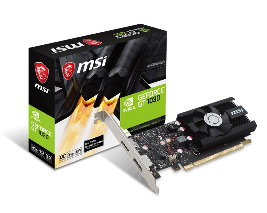 MSI, NVIDIA, GT, 1030, 2G, LP, OC, Low, Profile, Video, Card, -, GDDR5, DP/HDMI, 1265/1518MHz,