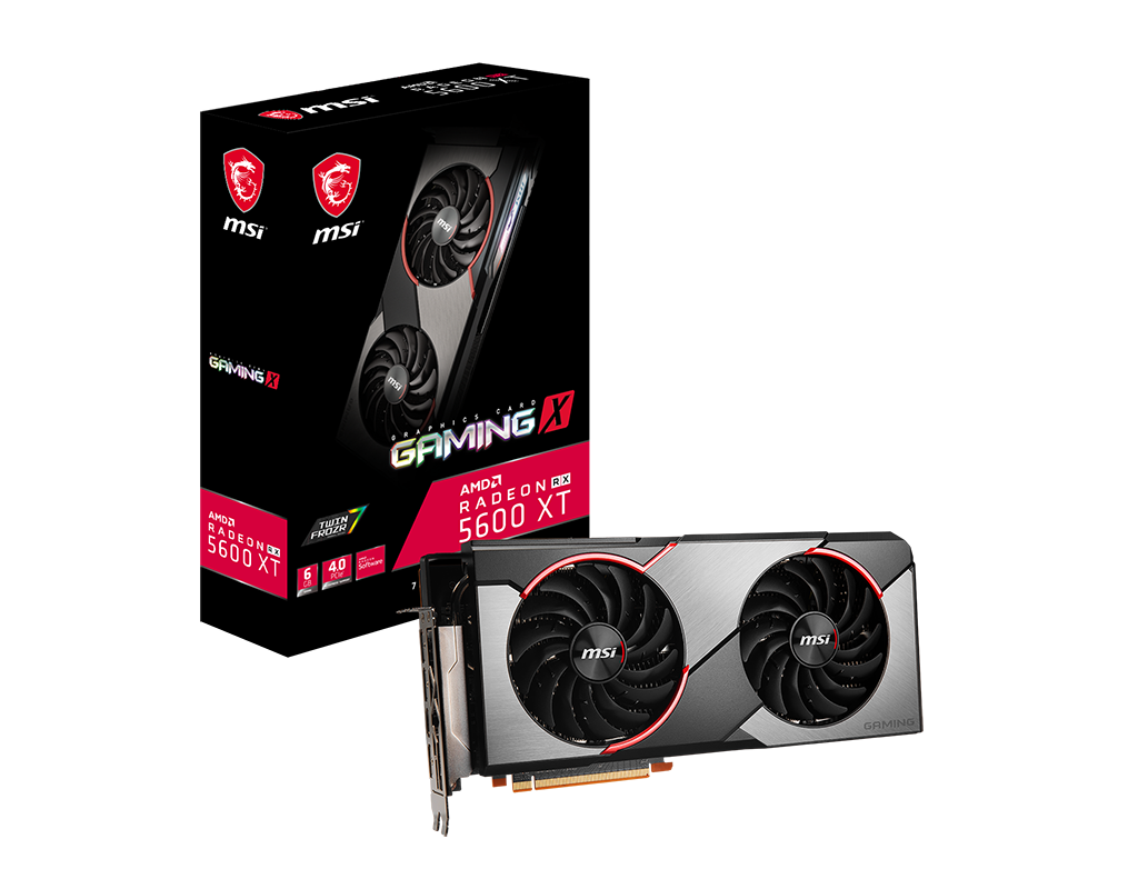 New, MSI, AMD, Radeon, RX, 5600, XT, Gaming, X, 6GB, GDDR6, PCIe, 4.0, Graphics, Card, 7680x4320, 4xDisplays, 3xDP, HDMI, 1750, MHz, 51nm, TOR,