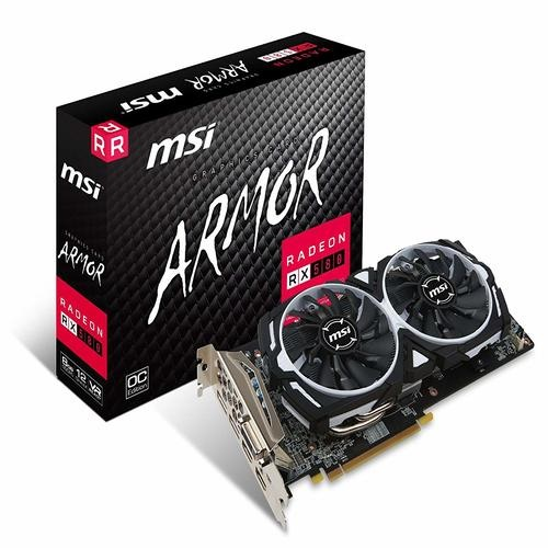 MSI, AMD, RX, 580, ARMOR, 8GB, OC, Video, Card, -, GDDR5, 2xDP/2xHDMI/DVI, CF, VR, Ready, 1366MHz,